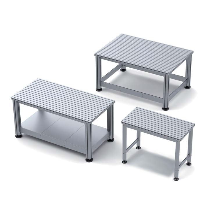 Workbenches with Aluminum T Slot table tops
