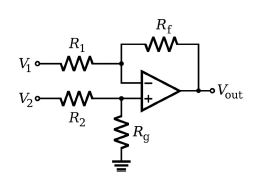 OpAmp differential amplifier