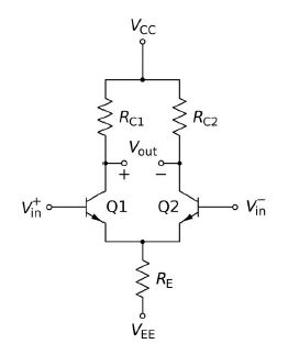 Transistorized differential amplifier