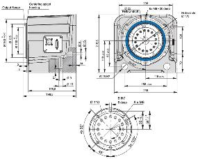 RDH-M Rotary Stage Dimensioned Drawing