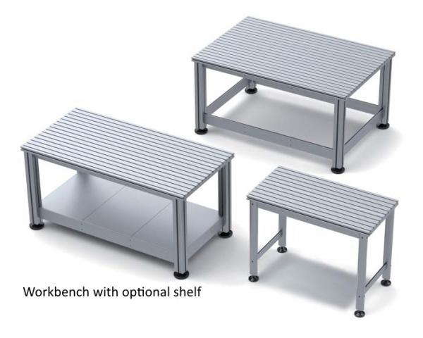 Workbenches with T Slot Table Top
