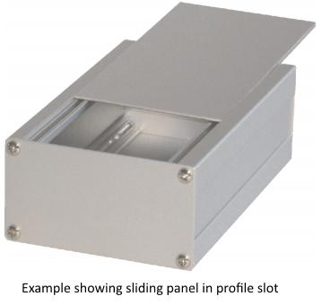 Corner profile sliding panel example