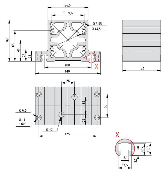End Bearing Assemblies 2 Dimension Drawing
