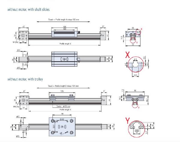 Dimensioned drawings of LEZ 1