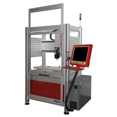 EuroMod Cartesian Gantry Robot with enclosure and safety door interlock