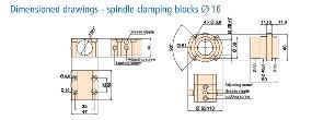 Series KM Ball Nut Mounting Blocks Dimension Drawing
