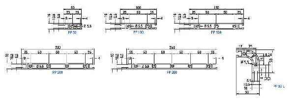 PP Aluminum Profiles Panels Drawing