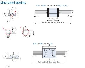 Linear Guide Rail LFS 8-1 Drawing