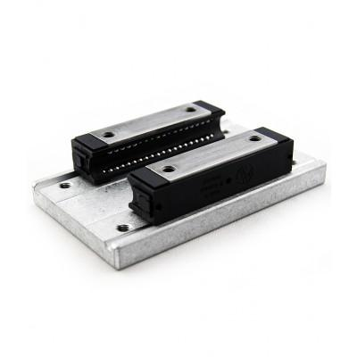 Dual track carriage for LFS 12-10 with 80mm linear bearings