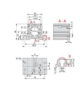 End Bearing Assemblies 1 Dimension Drawing